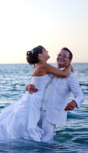 photographe couple mariés à bayonne